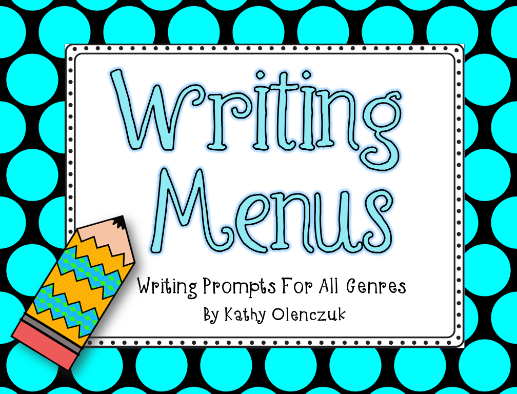 http://www.teacherspayteachers.com/Product/Writing-Menus-Writing-Prompts-For-All-Genres-1566450
