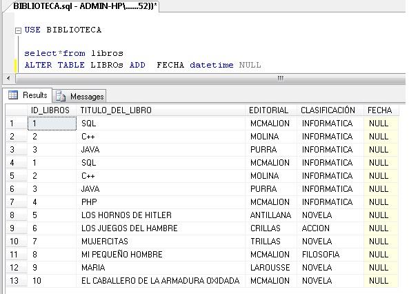 Lenguaje de consulta estructurada sql - Alter table add column not null ...