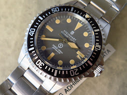 STEINHART OCEAN ONE VINTAGE MILITARY MK 2.5 DIVER 1000ft / 300meter PATINE INDEX-AUTOMATIC ETA 28