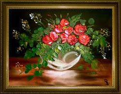 Róże w szkle