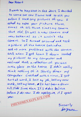 Robert punished people and they send apology letters