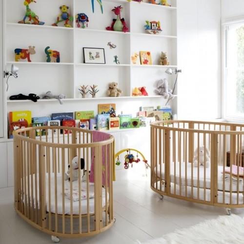 Rideau Chambre Bebe Gris : Photo déco chambre bébé jumeaux  Bébé et décoration  Chambre