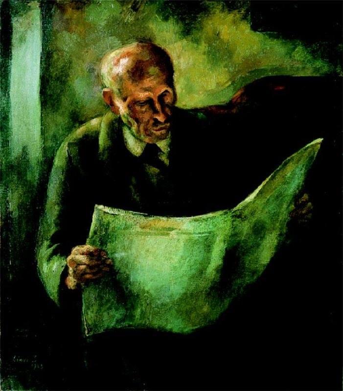 István Szőnyi (1894-1960). Man Reading