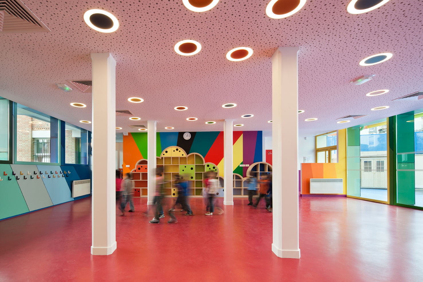 Mouffle l 39 ecole pajol par palatre et leclere for Ecole de decoration interieur paris