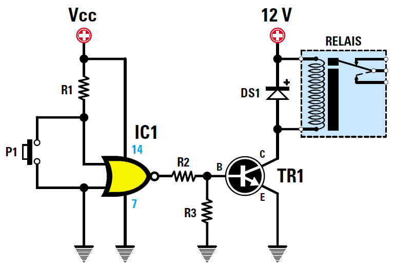 Sch mas des relais et comment les commander arduino for Porte nand transistor