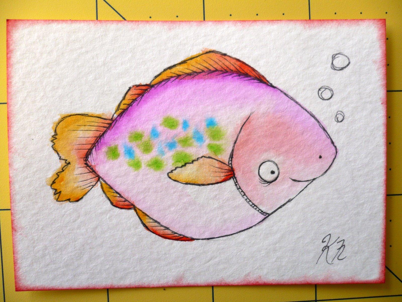 Рисунки своими руками рыбы 750