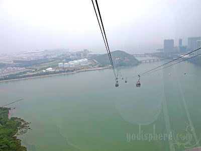 Cable Cars crossing Tung Chung Bay