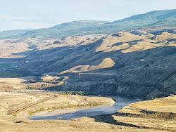 Het woestijnachtige binnenland van British Columbia