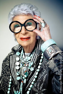 Iris Apfel Chantel Miller senior MAC make-up artist style icon