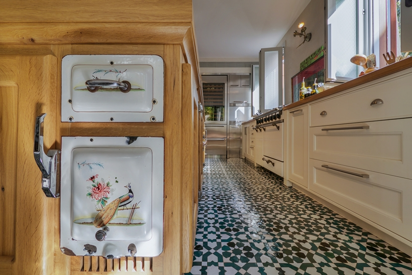 Kitchen furniture in the Townhouse decorated in the style of old Neve Tzedek, Israel