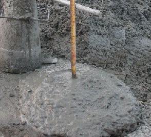 A concrete slump of even more than 6 in. is sometimes used in extreme difficulties in pile concreting