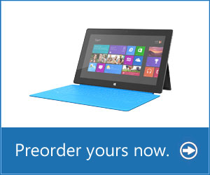 Microsoft Surface RT now available for pre-order