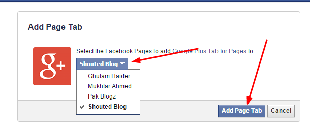 How To Add Google + Tab At Facebook Fan Page