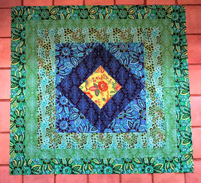 Organic Soul Blossoms Window to the Soul Quilt