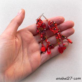 бисер бисероплетение freeform earrings beadwork jewelry