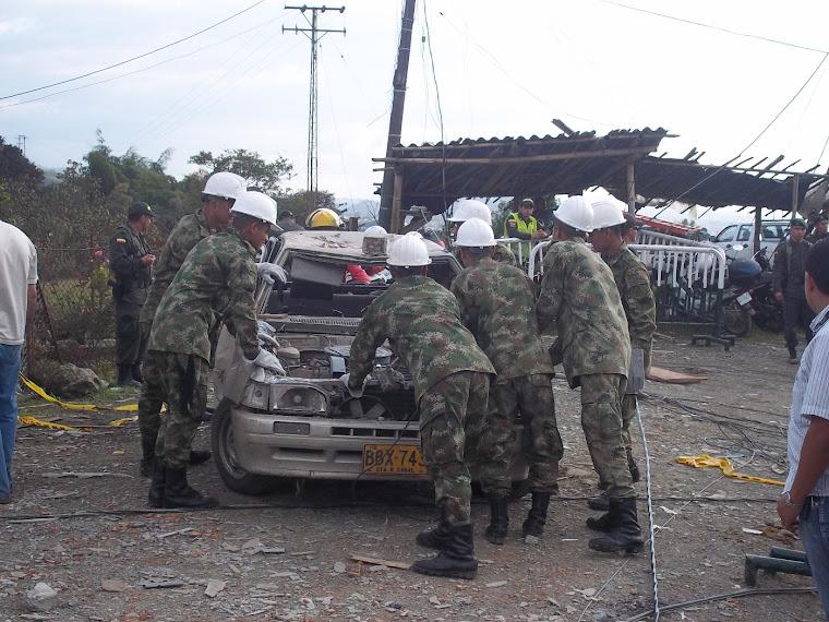 Actividad sobre la tragedia presentada en los Barrios Divisa, Romelia y Villa Carola del Municipio