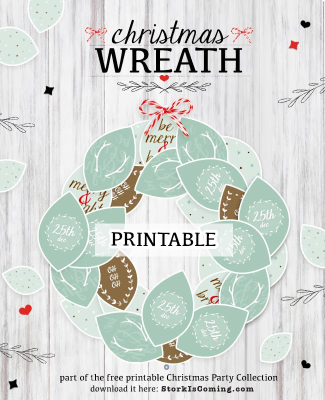 printable christmas wreath