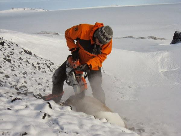 bebatuan gletser Antartika