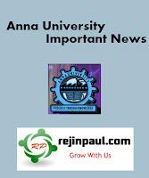 Anna University Exams Schedule 2014
