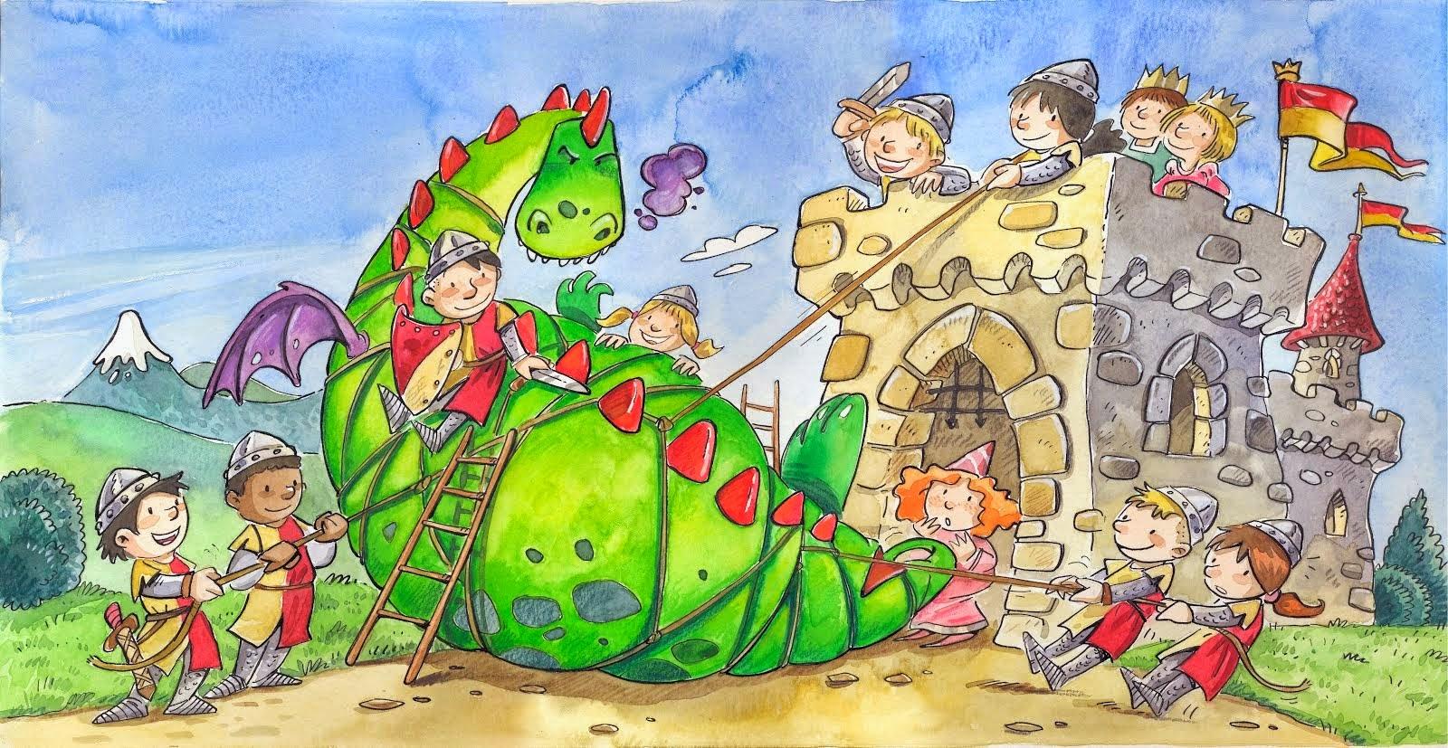 Resultado de imagen de il·lustracions sant jordi