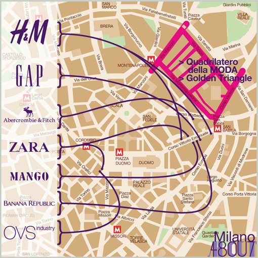 MILANO - CHEAP CHAIN - MAP
