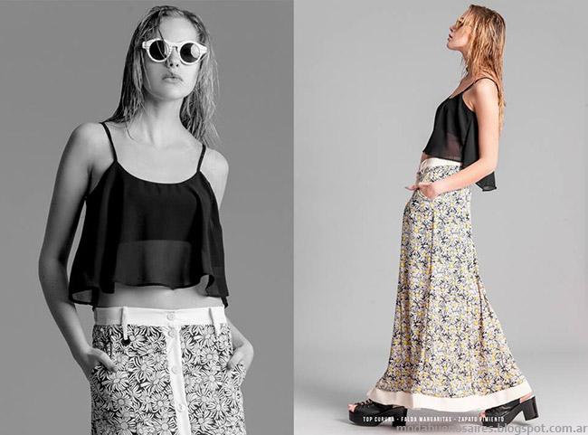 Faldas de moda 2015, colección La Cofradia. Moda primavera verano 2015.