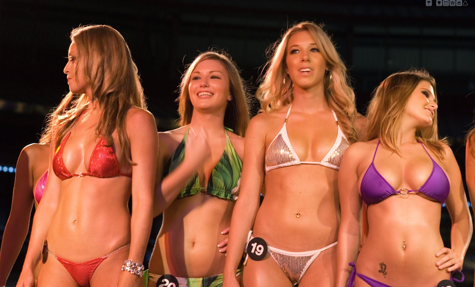 Horny girls at bikini contest