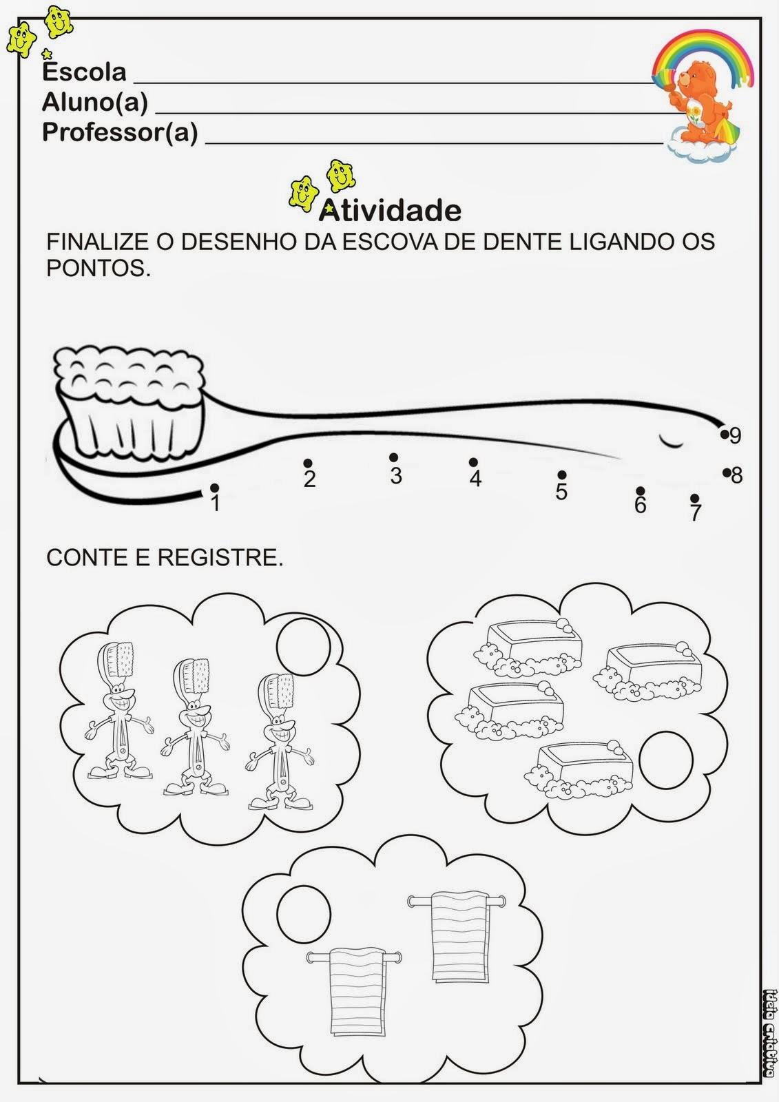 Preferência Educar X: Atividades sobre higiene para educação infantil MM51