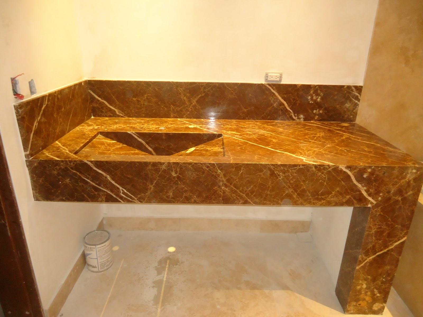 Fabricaci n pisos fachadas y cocinas lavabos en m rmol for Lavamanos de marmol