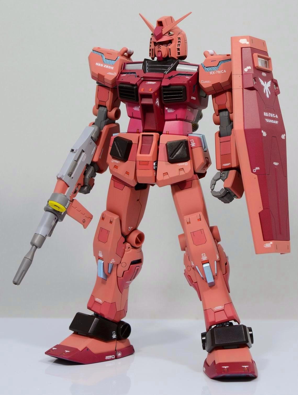 Gundam Family Mg 1 100 Rx 78 Ca Casvals Verka Custom Build Rx78 2 114215