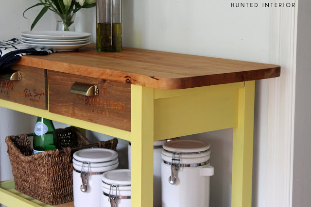 hopes & dreams: project plans: kitchen island & coffee/bar cart