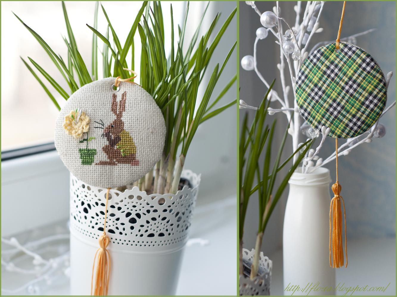 Christiane Dahlbeck, вышивка кролик, кролик весна, пинкип с вышивкой, схема вышивки кролик