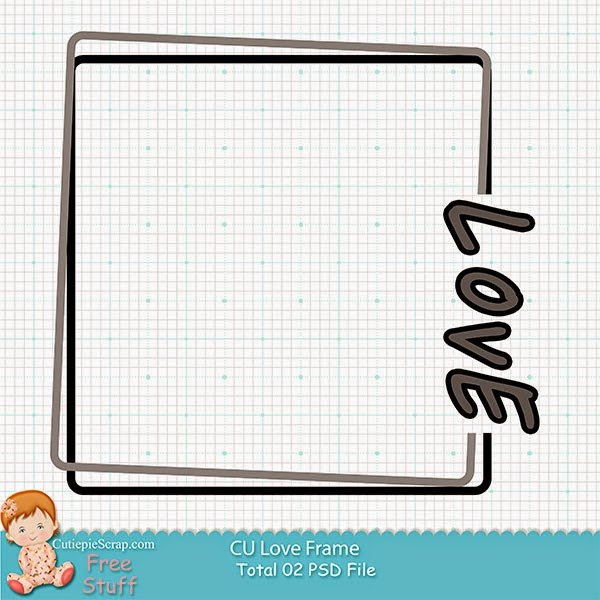CU Love Frame Freebie Folder