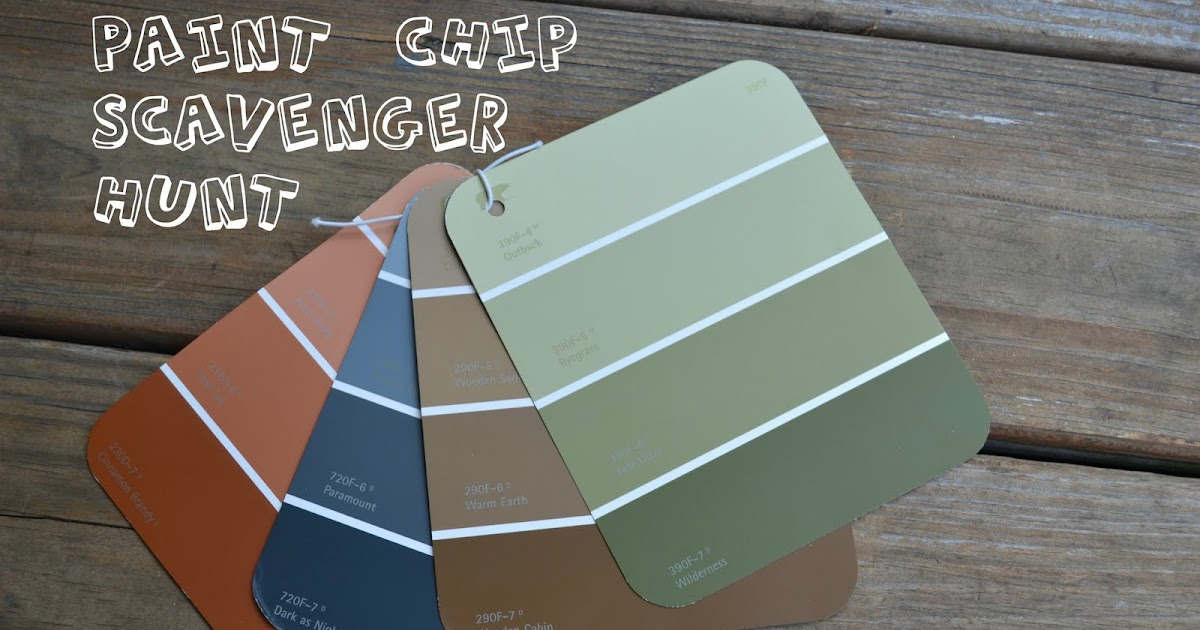 come together kids paint swatch scavenger hunt. Black Bedroom Furniture Sets. Home Design Ideas
