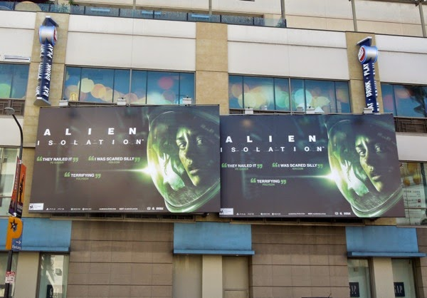 Alien Isolation video game bilboards