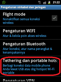 setting samsung android jadi modem internet