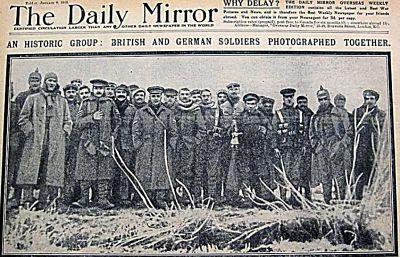 Tregua de Navidad, 1914, Bélgica, Ypres, Belgium, Daily Mirror,