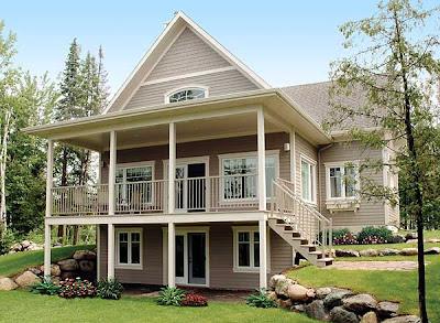 Desain Rumah Cottage yang Menarik