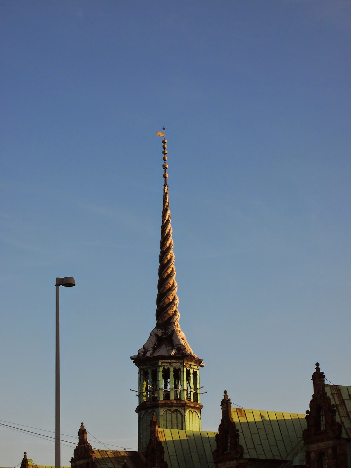 The Old Stock Exchange Building with a focus on the Dragon Spire