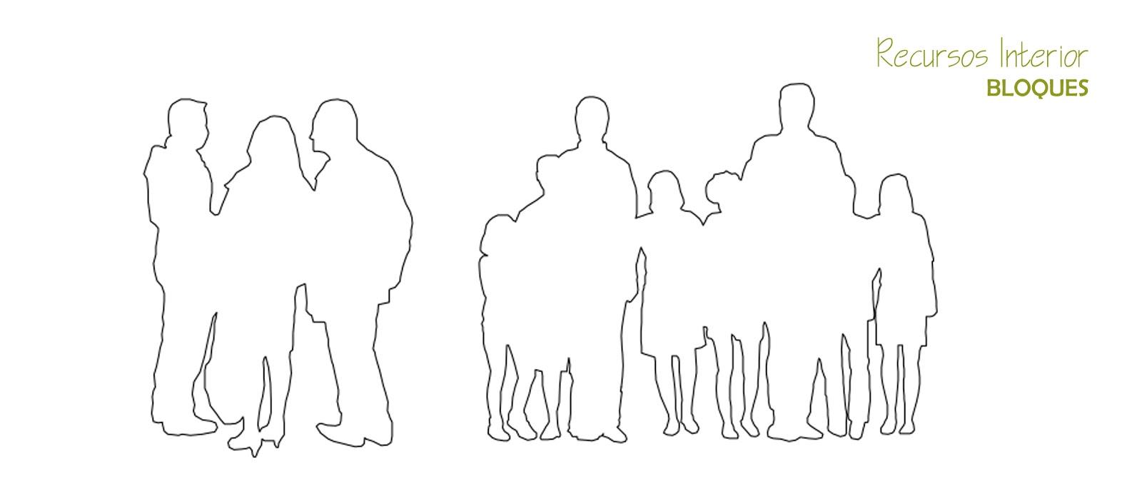 5 bloques gratis dwg silueta de grupos archivo 5 for Arquitectura en linea gratis
