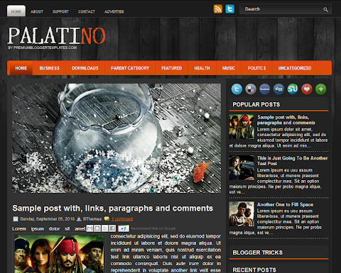Palatino Blogger Theme