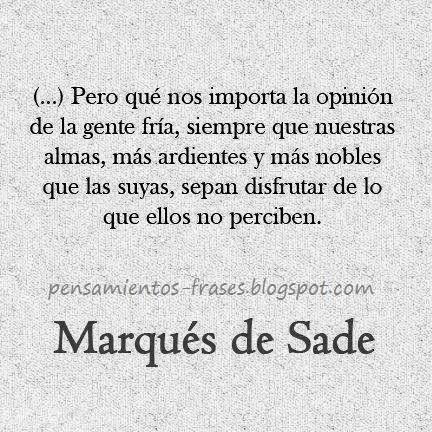 frases de Marqués de Sade