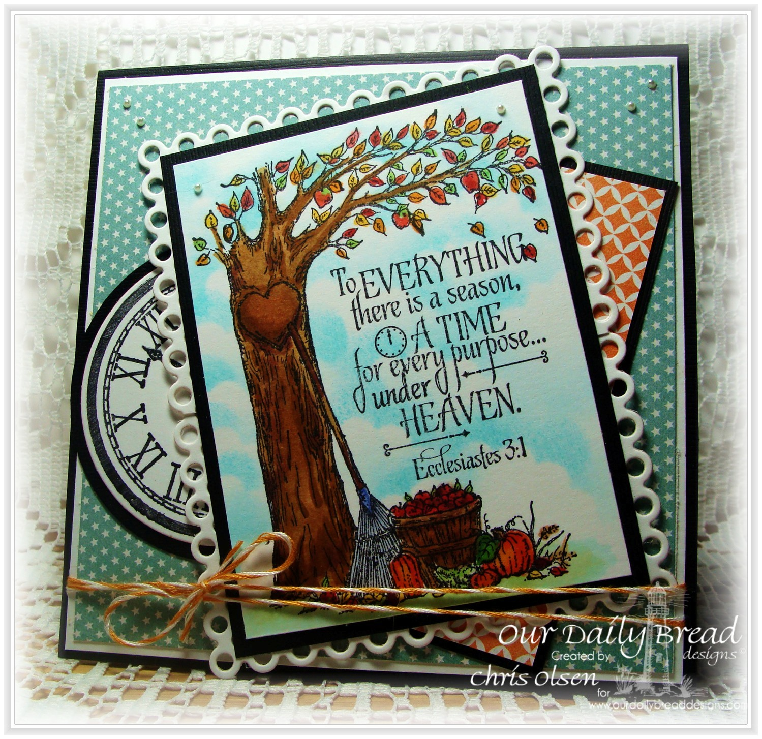 Stamps - Our Daily Bread Designs God's Timing, Autumn Tree, ODBD Custom Matting Circle Dies,  ODBD Custom Circle Ornament Dies