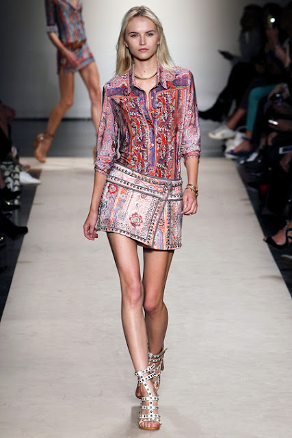 paisley purple blue mini skirt isabel marant 2013 bohemian