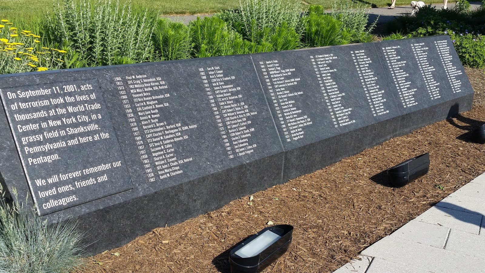 Pentagon Memorial Wall