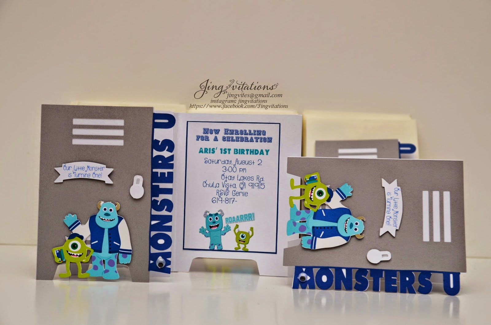 monsters university invitations