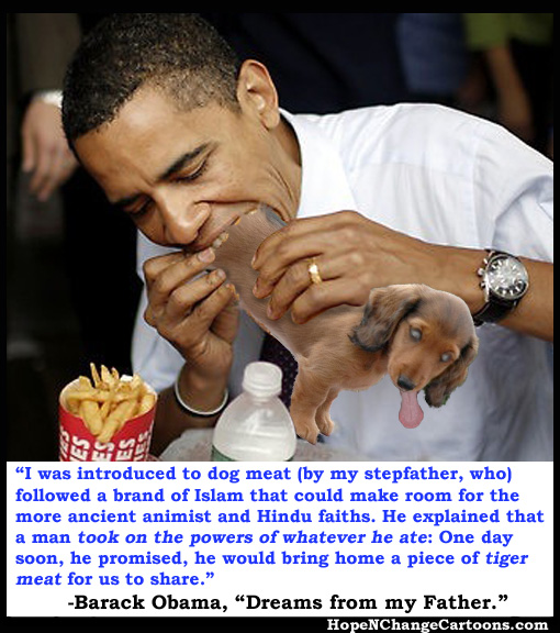 Barack Obama brags about eating dog meat
