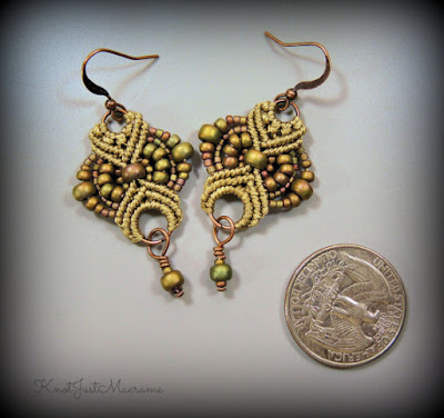 Micro macrame earrings by Knot Just Macrame.
