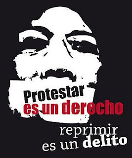 protestar es un derecho repri Durante la semana de Navidad se aprobó la Ley Gubernamental que criminaliza las manifestaciones sociales