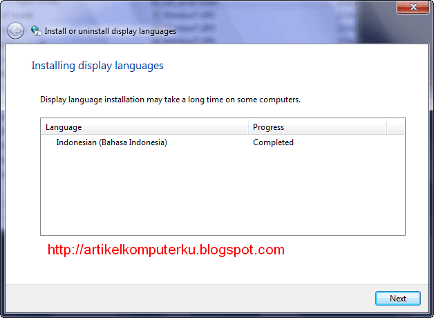 Windows 7 LIP Bahasa Indonesia